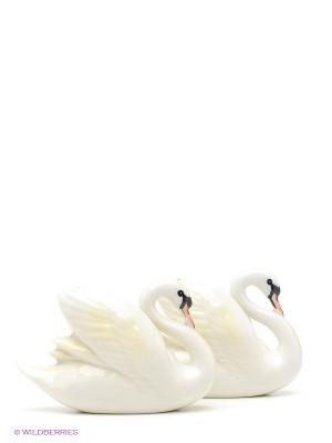 Набор соль-перец Лебеди Pavone. Цвет: молочный