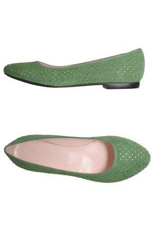 Балетки Emma Lou. Цвет: зеленый