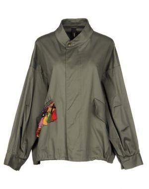 Куртка GUTTHA. Цвет: зеленый-милитари