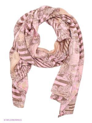 Платок Michel Katana. Цвет: розовый, коричневый, бежевый
