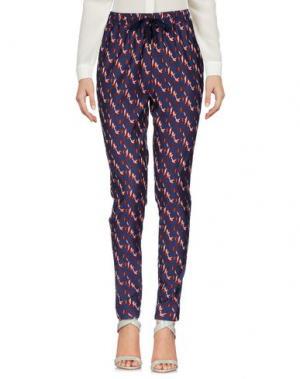 Повседневные брюки LE'S. Цвет: темно-синий