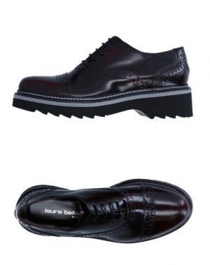 Обувь на шнурках LAURA BELLARIVA. Цвет: баклажанный