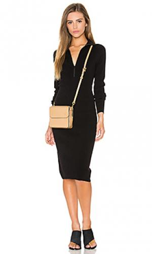 Платье свитер zip mock neck Autumn Cashmere. Цвет: черный