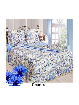 Постельное белье 2 сп. Sova and Javoronok. Цвет: светло-бежевый, голубой, синий