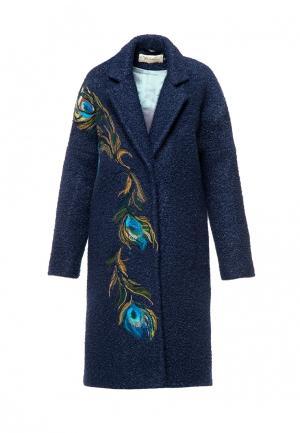 Пальто Yukostyle. Цвет: синий