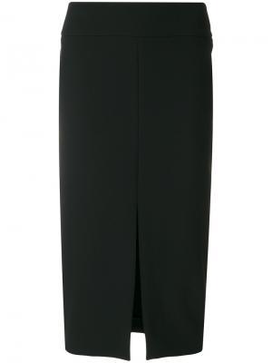 Юбка-карандаш с разрезом спереди Versace Collection. Цвет: чёрный