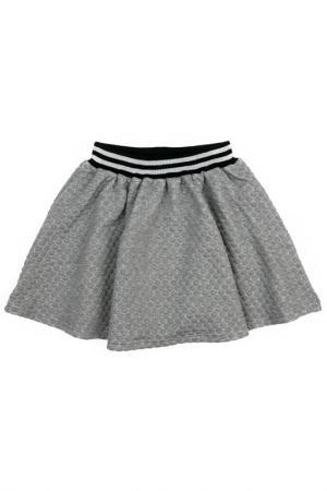 Юбка Scool S'cool. Цвет: серый, черный, серебристый
