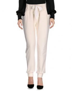 Повседневные брюки LA FABBRICA DEL LINO. Цвет: слоновая кость