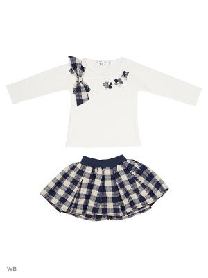 Джемпер и юбка Happy Bear. Цвет: белый, синий