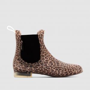 Полусапоги резиновые в стиле челси с леопардовым рисунком BE ONLY. Цвет: леопардовый рисунок