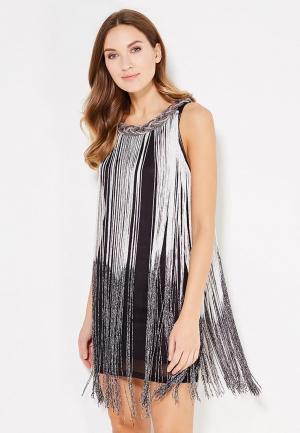 Платье Paccio. Цвет: серебряный