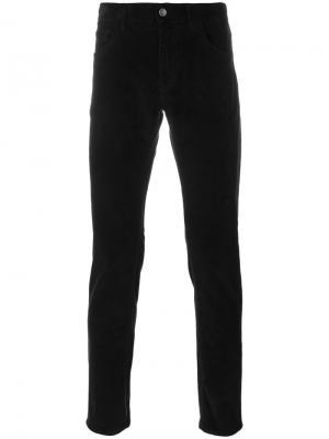 Вельветовые брюки кроя скинни Dolce & Gabbana. Цвет: чёрный