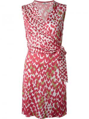 Платье с принтом Issa. Цвет: розовый и фиолетовый