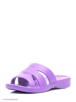 Шлепанцы Janett. Цвет: фиолетовый