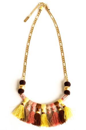 Ожерелье RADA. Цвет: коричневый