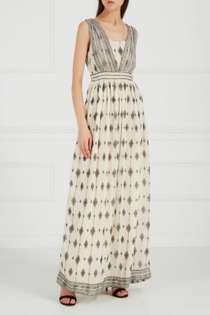 Платье-макси с принтом HOSS INTROPIA. Цвет: multicolor