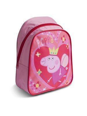 Рюкзачок малый Свинка Пеппа Королева Peppa Pig. Цвет: розовый, желтый, красный