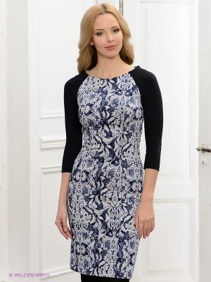 Платье BOVONA. Цвет: синий, кремовый