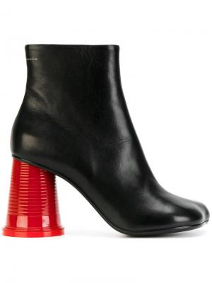 Ботинки на каблуке в виде стаканчика Mm6 Maison Margiela. Цвет: none