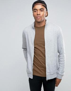 New Look Серая спортивная куртка. Цвет: серый