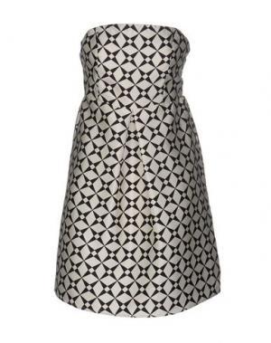 Короткое платье ANONYME DESIGNERS. Цвет: слоновая кость