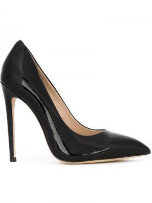 Туфли на шпильках с заостренным носком Gianni Renzi. Цвет: чёрный