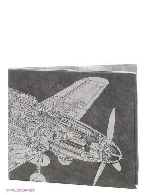 Кошелек Самолёт TYVEK4 Экспедиция. Цвет: черный