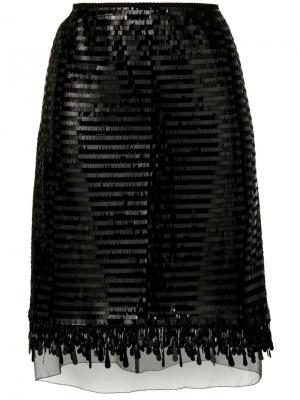 Юбка с пайетками Marc Jacobs. Цвет: чёрный