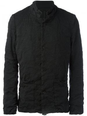 Легкая куртка с воротником-стойкой Poème Bohémien. Цвет: чёрный