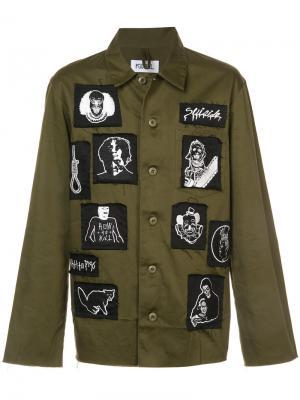 Куртка с нашивками Kidill. Цвет: зелёный