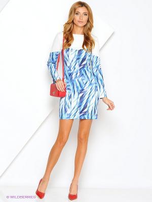 Платье Xarizmas. Цвет: синий, белый