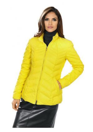 Пуховая куртка Ashley Brooke. Цвет: желтый, коралловый, черный