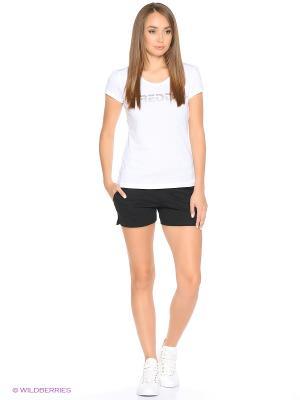 Комплект: футболка, шорты Freddy. Цвет: черный, белый