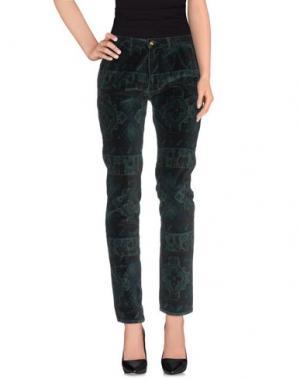 Повседневные брюки MONOCROM. Цвет: изумрудно-зеленый