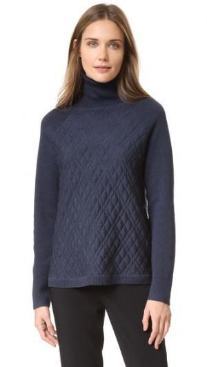Пуловер с воротником под горло Lela Rose. Цвет: дымчато-серый
