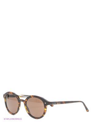 Солнцезащитные очки Giorgio Armani. Цвет: коричневый