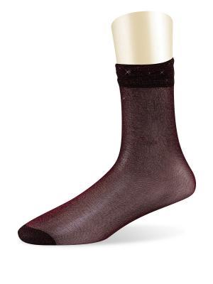 Носки, 5 пар Glamuriki. Цвет: бордовый