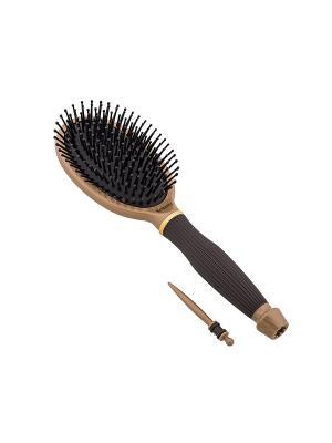 Щетка массажная Salon Professional 99450HVI Nano Style,  вставка для отделения прядей,. Цвет: коричневый