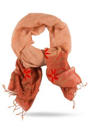 Палантин Michel Katana. Цвет: розовый, оранжевый, бежевый