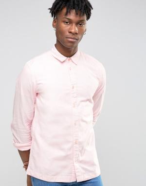 Waven Бледно-розовая рубашка узкого кроя. Цвет: розовый
