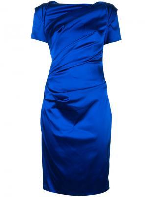 Платье Monument Talbot Runhof. Цвет: синий