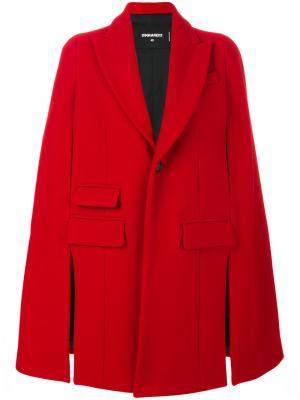 Пальто-кейп Dsquared2. Цвет: красный