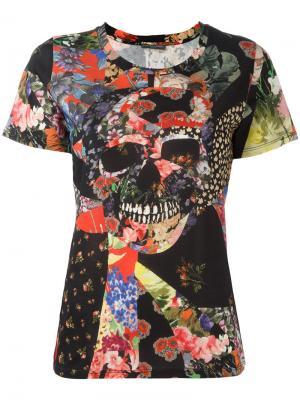 Блузка с принтом Alexander McQueen. Цвет: чёрный