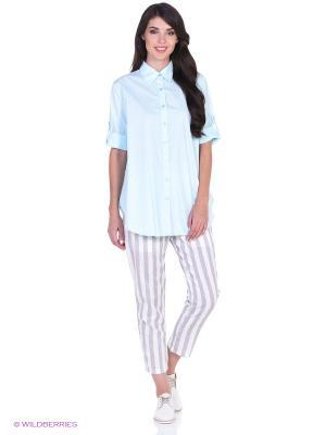 Рубашка L'Anu de Meri. Цвет: лазурный