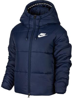 Куртка W NSW SYN FILL JKT HD Nike. Цвет: синий