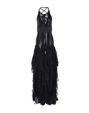 Длинное платье SONIA FORTUNA. Цвет: черный