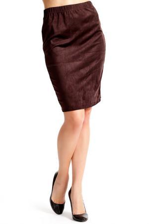 Юбка Isaco & Kawa. Цвет: коричневый