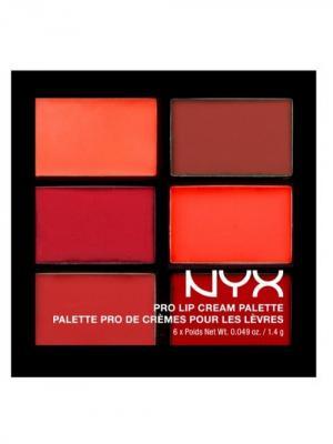 Палетка помады для губ. PRO LIP CREAM PALETTE - REDS 03 NYX PROFESSIONAL MAKEUP. Цвет: красный