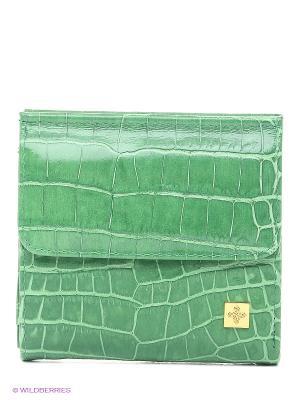 Кошелек Dimanche. Цвет: зеленый