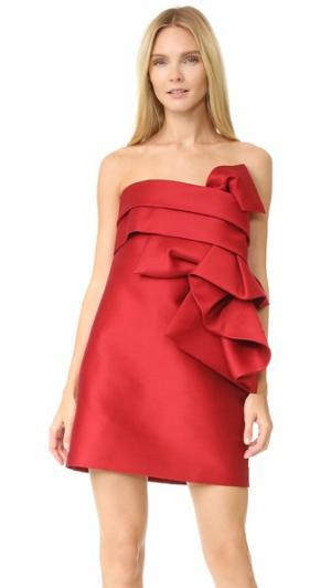 Скульптурное мини-платье DSQUARED2. Цвет: красный